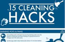 Cleaning Hack Infographics