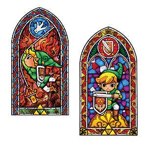 Gamer Glass Decals - This Legend of Zelda Wall Decal Design Looks Like a Stained Glass Window