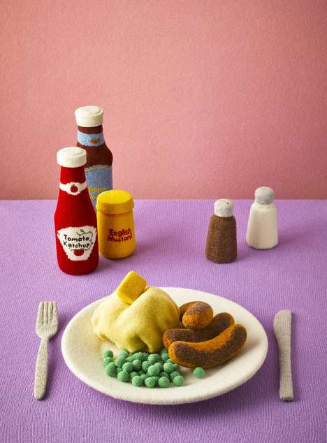 Knitted Felt Foods - Jessica Dance Transforms Popular Foods into Soft Works of Art