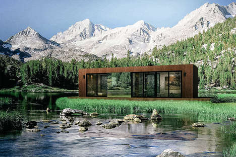 Efficiently Compact Cabins - This Cozy One-Bedroom Cabin Features Foldable Storage Solutions
