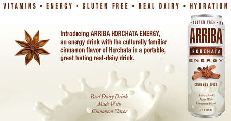 Horchata-Inspired Energy Drinks - This Creamy Energy Drink is Infused with Real Dairy and Cinnamon