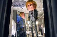 Politician-Mimicking Mannequins - These Donald Trump Dolls are Perched Inside Storefront Windows