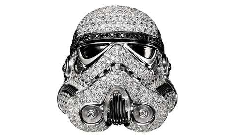 Bejewelled Sci-Fi Solider Rings - This Stromtrooper Piece of Jewelry is Fitted with Tiny Gemstones