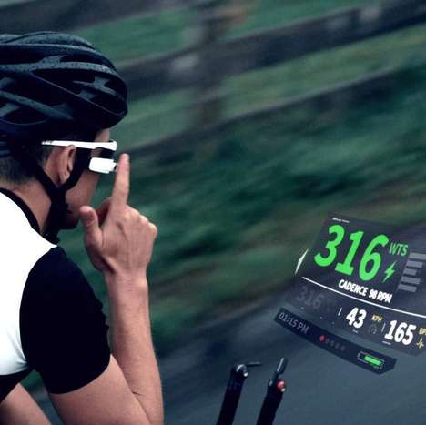 Microcomputer Sport Glasses - The Recon Jet Headset is Designed to Give Riders Info at a Glance