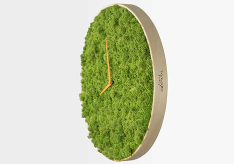 Surrealist Moss Clocks - This Whimsical Watch Model Recreates the Aesthetic of Nature with Grass