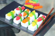 Sushi Jelly Shots - That's So Michelle's Jelly Shots Recipe is Made With Candy, Sake and Gelatin