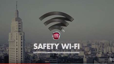Seatbelt-Enabled Taxi WiFi - The Fiat WiFi System is Accessible When Passengers Buckle Up