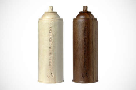 Commemorative Wooden Spray Cans - This Medicom Wood Spray Can Celebrates NYC Street Artist Stash