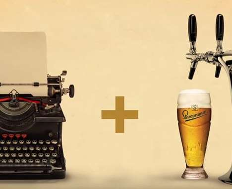 Beer-Pouring Typewriters