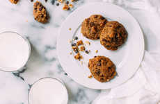 Chocolate Zucchini Cookies - This Chocolate Chip and Zucchini Cookie Recipe Contains Walnuts