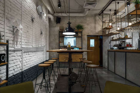 Industrial All-Day Cafes - This Bar and Restaurant in Gdyna, Poland Boasts a Vintage Aesthetic