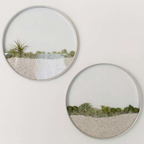 Vertical Wall Planters - These Circular Indoor Garden Planters Look Like Hanging Wall Gardens