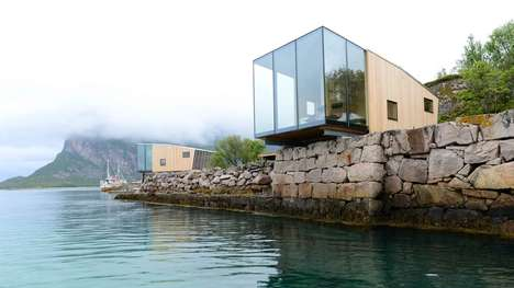 Cozy Cantilevered Cabins - These Manshausen Cabins Hang Over the Edge of the Water