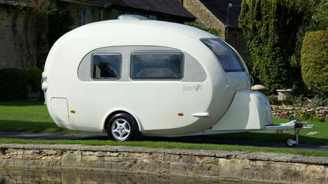 Egg-Shaped Caravans - This Go Barefoot Caravan Keeps You As Safe and Cozy As An Unborn Chick