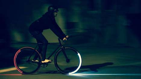 Rim-Mounted Bicycle Lights - The Revolights Eclipse + Has An Accelerometer-Activated Brake Light