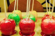 Colorful Candy Apple Recipes - This Tutorial Explains How to Make a Sweet Halloween Treat