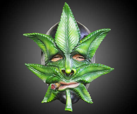 Narcotic Halloween Costumes - Weed the Marijuana Leaf Mask is Designed for Potheads on Halloween
