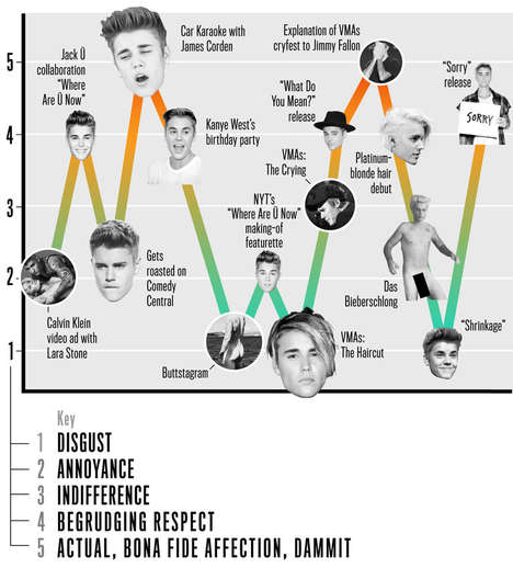 Pop Star Infographics - This Chart Details Justin Bieber's 2015 and Judges Each Transgression