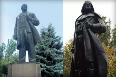 Galactic Leader Monuments - This Statue of Communist Leader Lenin Was Remixed into Darth Vader