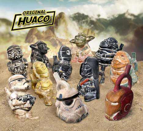 Sci-Fi Pottery Sculptures - These Star Wars Figurines Resemble Pre-Columbian Pottery