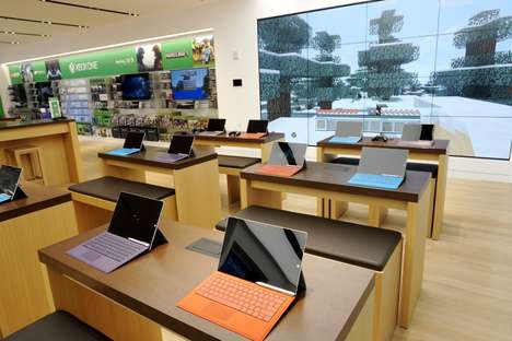 Flagship Computing Stores - The Microsoft Flagship Store in New York City Covers Five Floors