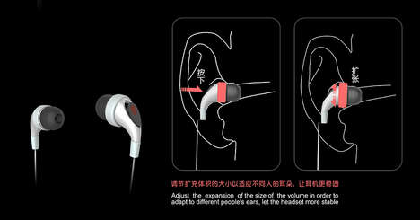 Safely Expanding Earbuds - The 'Supersuit' Earbuds are a Safe In-Ear Headphone That Inflate