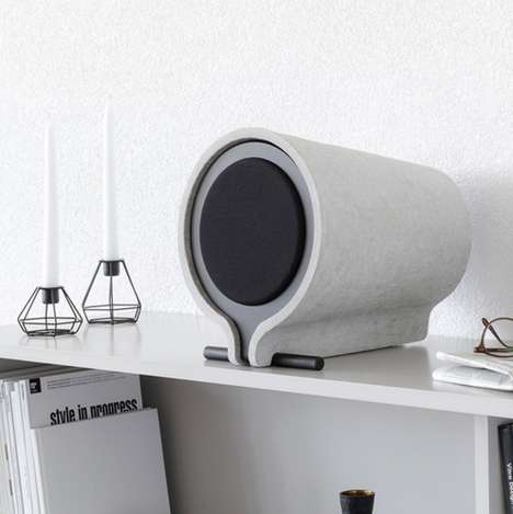 Acoustic Cement Speakers - The Vonschloo Shelf Loudspeakers Double as Art Pieces and Amplifiers