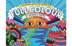 Psychedelic Coloring Books - Full Color by Georgia Perry is Filled with Vibrant Imagery