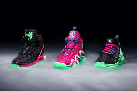 Glowing Zombie Sneakers - The Adidas Halloween Pack Called 'Ballin' Dead' Boasts a Zombie Theme