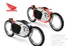 Hub-Free Motorcycles - James Stumpf Designed this Motorbike Concept to Eliminate Hubcaps