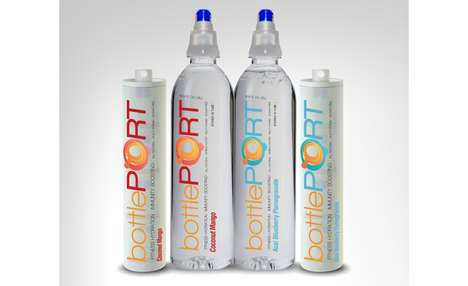 Water-Flavoring Caps - BottlePORT's Bottle Caps Enhance Water with Exotic and Berry Flavors