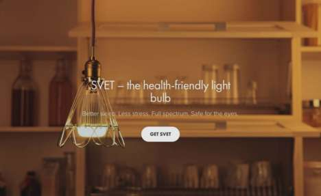 Stress-Reducing Lightbulbs - This Lightbulb Changes in Accordance with Natural Sunlight Dynamics