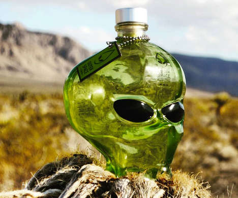 Alien Cranium Alcohol - Outer Space Vodka is Crafted From High-Quality Ingredients in the U.S.A.