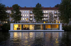Flood-Fighting Villas - The 'Watervilla' is a Luxurious Floating Home Built to Buffer Heavy Rain