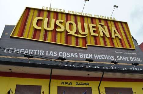 Woven Cultural Billboards - This Handmade Billboard Sign is a Celebration of Peru