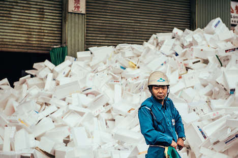 Fish Market Photography - Nico Therin Photographed the Workers of the Tsukiji Fish Market in Tokyo