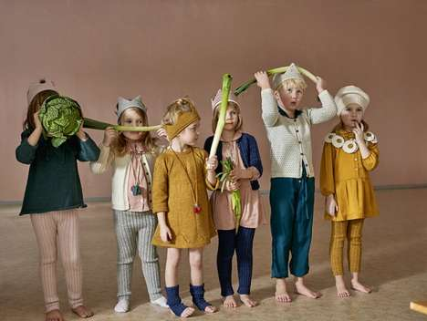 Knit Foodie Childrenswear - The Oeuf Winter Lineup Dresses Kids in Produce-Inspired Attire