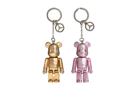 Luxurious Bear Keychains - The Mercedes Benz x Medicom Toy Bearbrick is For Luxury Car Lovers