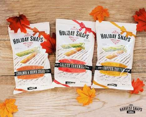 Holiday Pea Snacks - Harvest Snaps' Snapea Crisps are Now Offered in Sweet Seasonal Flavors