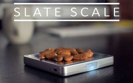 Portable Smart Scales - The Slate Nutrition Scale is Bluetooth-Enabled and Smartphone-Friendly