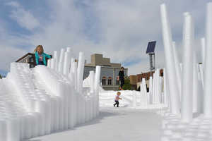 This Art Project Features Thousands of Foam Rods in a Rippling Pattern