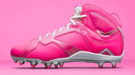 Cancer-Kicking Cleats - These Think Pink Air Jordan 7 Cleats Will Be Worn Exclusively by NFL Players