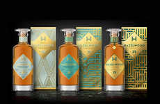 Art Deco Scotch Branding - This Scotch Bottle Packaging is Inspired by the Art Deco Movement