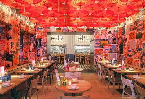 Artwork-Adorned Restaurants - 'Happyhappyjoyjoy' in Amsterdam Has an Asian-Inspired Vibrant Interior