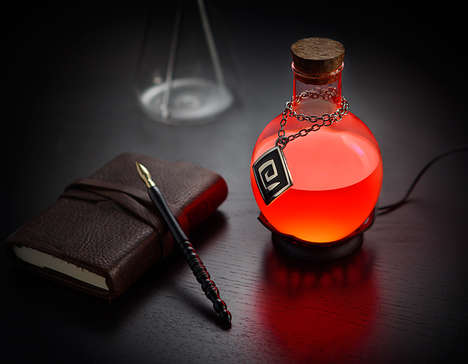 LED Potion Lamps - This Color Changing Lamp Resembles a Healing Potion from a Video Game