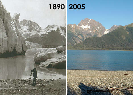 Comparative Climate Photographs - The 'Repeat Photography' Project Shows Worrying Signs