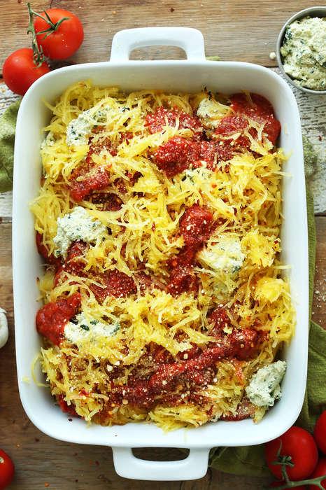 Squash Lasagna Bakes - This Spaghetti Squash Lasagna is a Healthy Cross-Cultural Dish