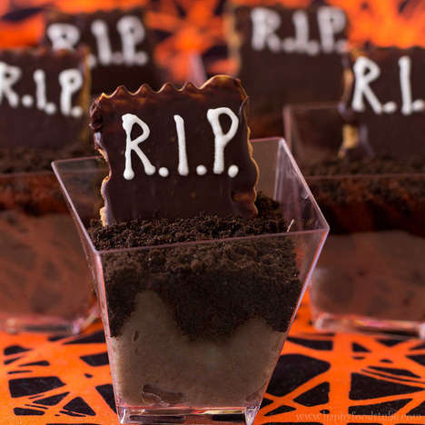 Spooky Tombstone Shooters - These Dessert Shots are Designed to Look Like Ghoulish Gravestones