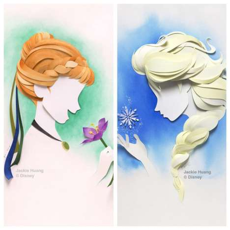 Layered Paper Portraits - Jackie Huang Cuts and Layers Paper for Intricate Character Portraits
