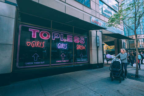 Topless Mannequin Campaigns - Havas Chicago Created a Cancer Awareness Peep Show